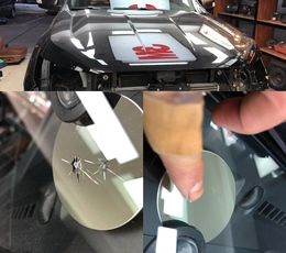 福特皮卡挡风玻璃修补