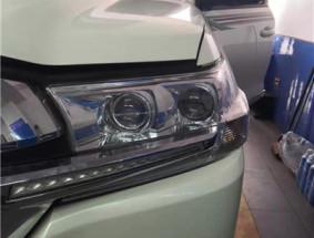长春车灯丰田酷路泽升级DYS LED双光透镜