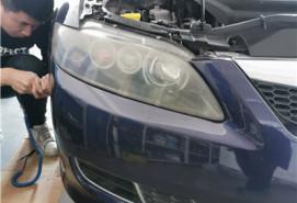长春车灯马自达六升级DYS LED双光透镜+翻新镀膜案例