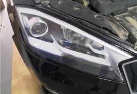 长春车灯宝沃升级DYS LED双光透镜+澳兹姆迎宾泪眼案例