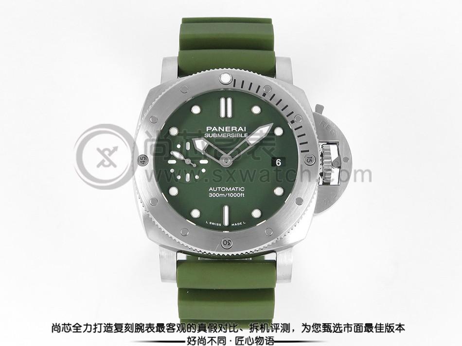 【VS】沛纳海 PAM1055 绿面 42mm 胶带