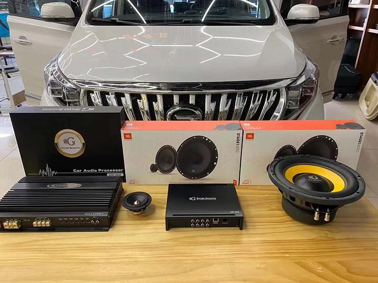 传祺GM8汽车音响改装JBL,黄金声学功放加超低音,STP隔音 台州慧声