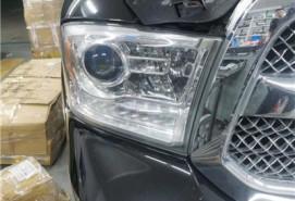 长春车灯道奇公羊升级极光SE LED激光版双光透镜案例