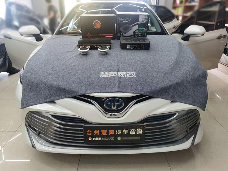 台州慧声 丰田凯美瑞汽车音响二次升级,黄金声学功放,好莱坞超低音