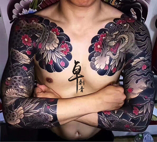 《厦门纹身》日式老传统纹身