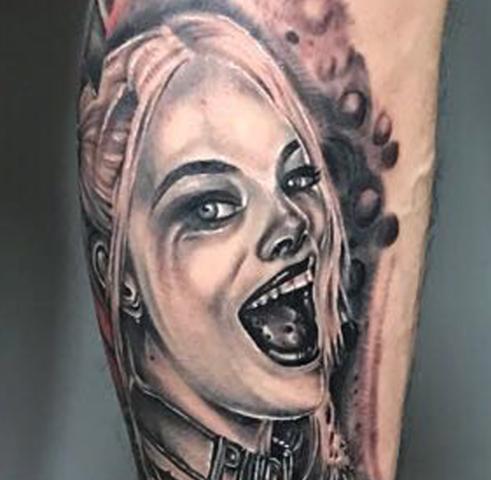 《厦门欧美纹身》哈莉奎茵头像纹身