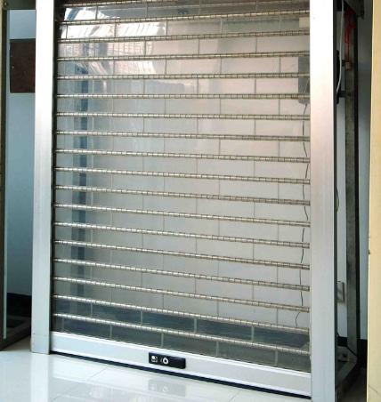 西安电动卷闸门告诉你水晶卷帘门的性能特点
