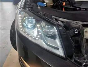长春车灯迈腾B7升级DYS LED S双光透镜案例
