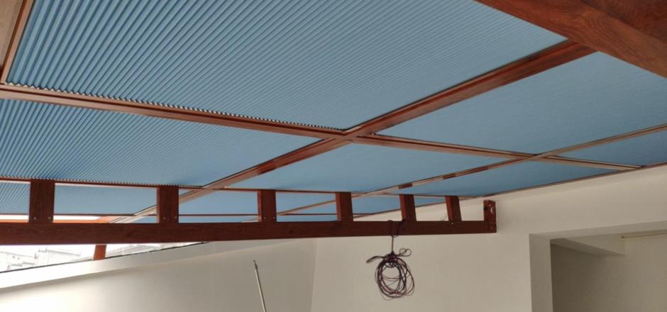 遮阳窗帘安装好的效果实例