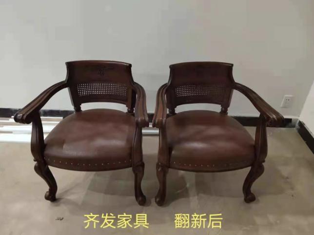 椅子换皮翻新后